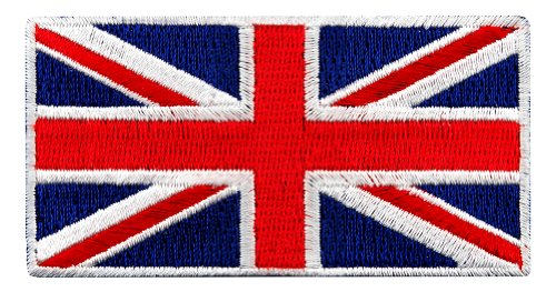 Embroidered Jack - British Union Jack Embroidered Patch England Flag UK Great Britain Iron-On Emblem