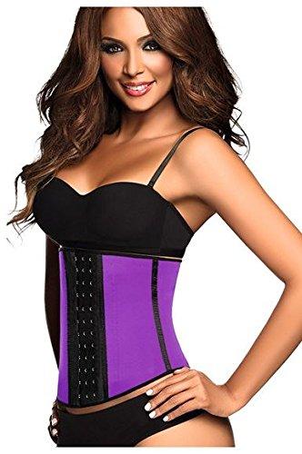 51c9812793 Ann Chery Women s Classic 3 Hooks Latex Waist Cincher Shapewear Purple (42