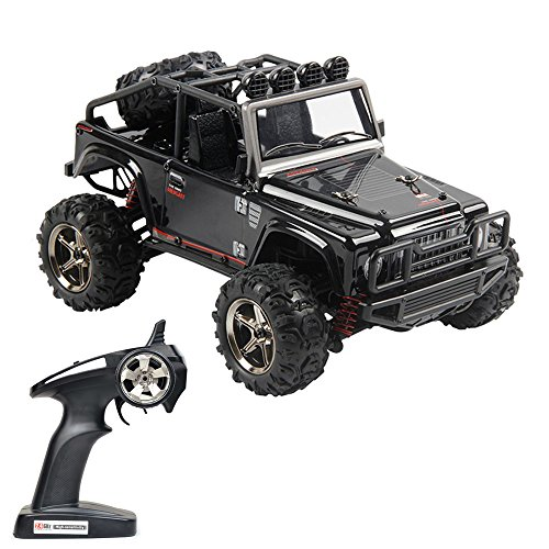 4wd Kit Buggy Electric (Tecesy RC Truck 1/22 Scale Electric Jeep 4WD 2.4Ghz OFF-Road Drift RC Desert Buggy with Lights 25MPH BG1511A (Black))