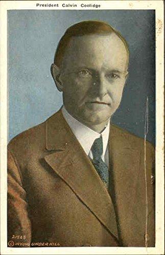 President Calvin Coolidge Presidents Original Vintage Postcard