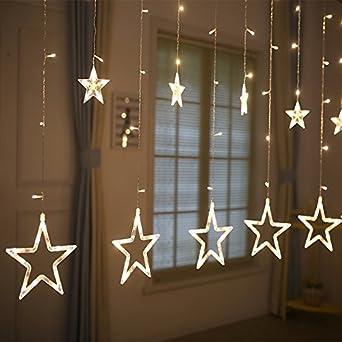 Lichterkette LED Lichterkette Fenster Vorhang Lichterkette ...