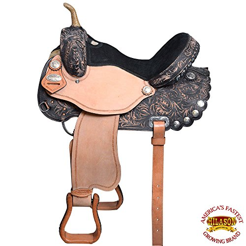 HILASON 14 FLEX-TREE BARREL RACING TRAIL PLEASURE WESTERN SADDLE