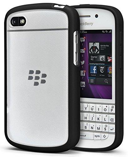 size 40 5eab7 1d801 BlackBerry Q10 CASE, Black Clear Frost AQUAFLEX TPU Candy Skin CASE Cover  for BlackBerry Q10