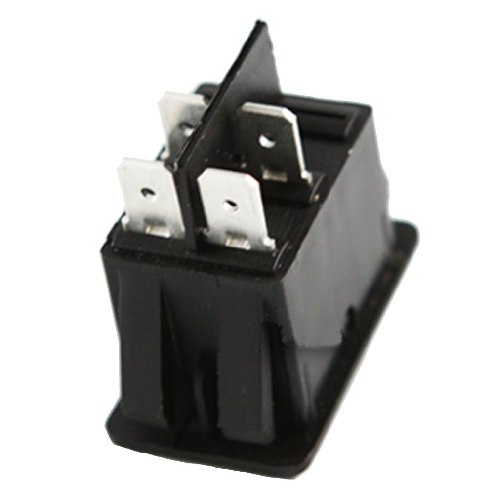 Mintice/™ 5 X KFZ Auto Kippschalter Druckschalter Wippschalter Schalter 12V Blau LED Licht Nebelschalter 4-polig