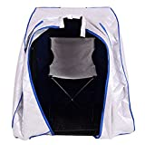 Portable Far Infrared Steam Sauna Spa With Chair Silver Full Body Slimming Weight Loss Detox Therapy Home Tent Pot Machine Heater Indoor Therapeutic Therapy Reduce Pressure And Tension Lightweight