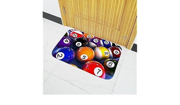 DRESS_Home Billar patrón Antideslizante alfombras Billar 3D ...