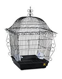 Prevue Pet Products Jumbo Scrollwork Bird Cage 220BLK Black, 18-Inch by 18-Inch by 25-Inch