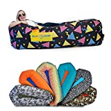 Chillbo SHWAGGINS 2.0 Best Inflatable Lounger Portable Hammock Air Sofa and Camping Chair Ideal Gift Inflatable Couch and Beach Chair Camping Accessories for Picnics & Fe (Nineties Fresh Prints Black)