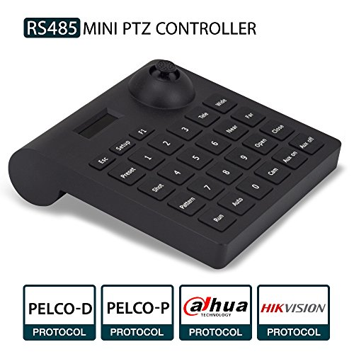PTZ Keyboard,LEFTEK Analog Camera RS485 Controller Mini PTZ Jorystick With LCD Screen Display ()
