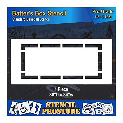 - Athletic Marking Stencil - 36 inch -Baseball BATTERS Box Stencil - 36