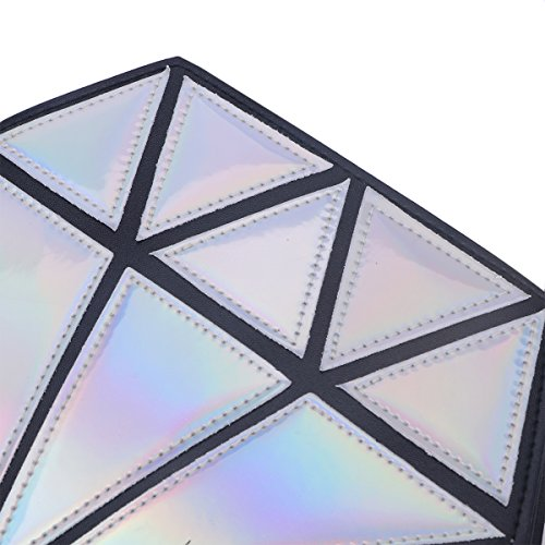 Bags Womens Silver PU Small for Crossbody Bag Bag Shoulder Hologram LUOEM Diamond Leather x7OE1w