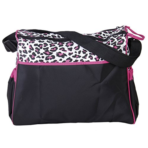 SODIAL(R) Multifunktionshandtasche Mama Baby Windel Wickeltasche mit Wickelauflage - Tiger Muster