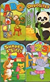 img - for 4 Shaped Books: Learning Numbers, Letters, Shapes and Opposites book / textbook / text book