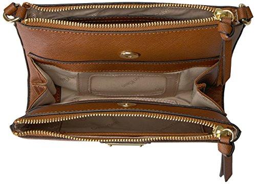 Luggage Saffiano Klein Crossbody Calvin Organizational wfTITq