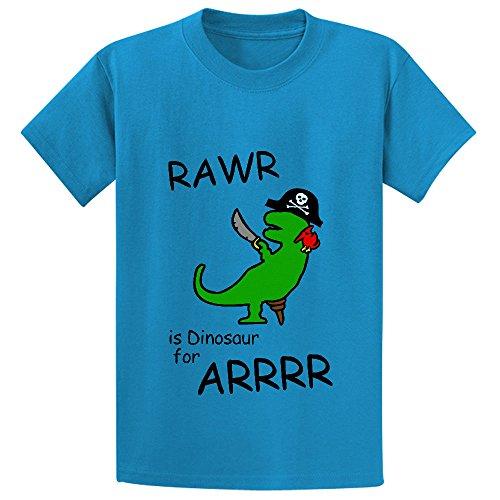 unicorn-rawr-is-dinosaur-for-arrr-pirate-unisex-cute-crew-neck-t-shirt-blue