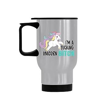 Unicornio lindo de la historieta de la serie 3 del unicornio divertido Soy UNA PUTA del