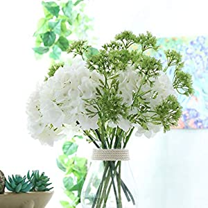 Memoirs- 53cm 2 Branches Fake Flowers Simulation Plant 2 Branches Soft Lace Flower Home Decoration Artificial Flower Plastic Autumn Decor 59