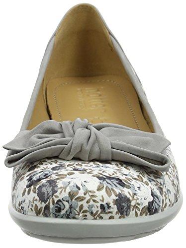 Hotter Jewel, Bailarinas Para Mujer Grey (Grey Floral/Grey)