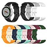 Shan-S 18mm Bands Compatible for Garmin Vivoactive 4s,Soft Fashion Silicone Sport Replacement Wristbands Accessories Bracelet Strap with Secure Metal Buckle for Garmin Vivoactive 4s Smrat Watch