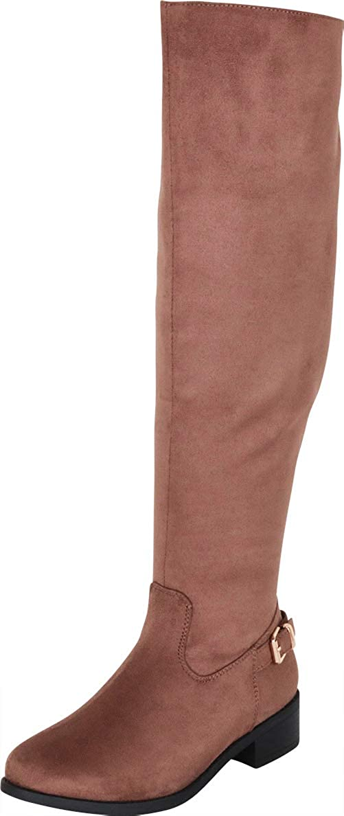 Taupe Imsu Cambridge Select Women's Classic Thigh-High Over The Knee Riding Boot