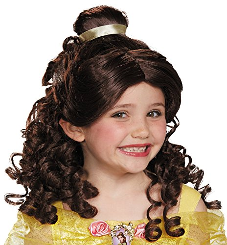 Belle Child Disney Princess Beauty & The Beast Wig, One Size (Beauty And The Beast Belle Wig)