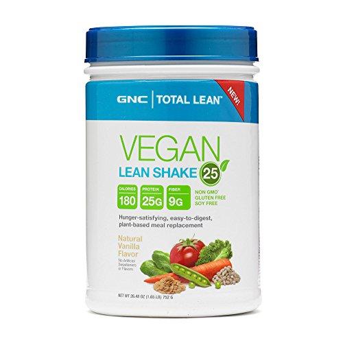 GNC Total Lean Vegan Lean Shake 25 - Natural Vanilla 1.65 lb