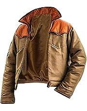 Mens John Yellow Brown Stone Dutton Cotton Jacket