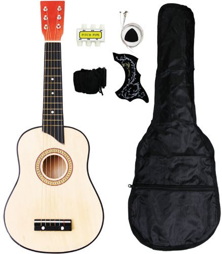 UPC 818107013539, Crescent MG25-NR Kids Acoustic Toy Guitar 25-Inch, Natural Wood Color