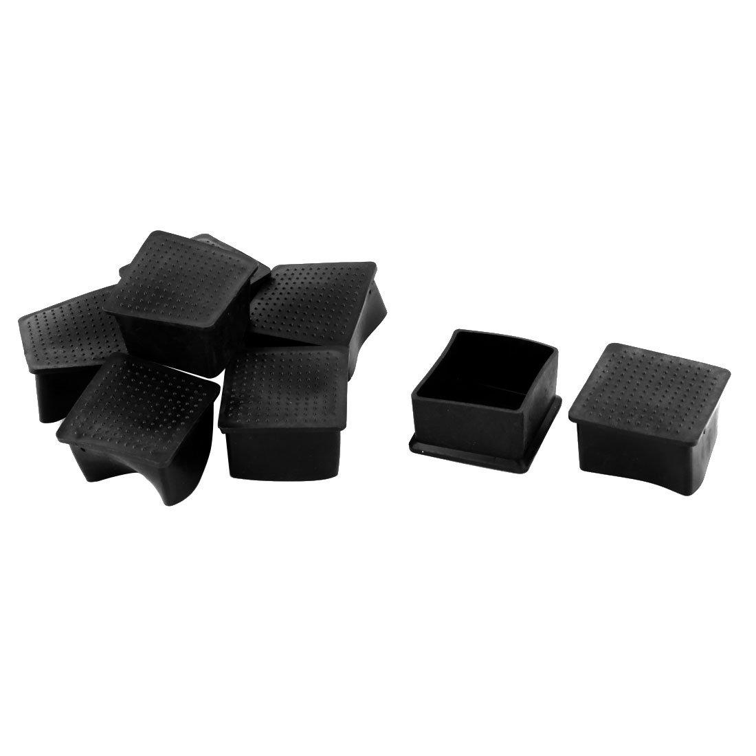 sourcingmap® Famiglia mobili in gomma piede coperchio protettivo Cuscinetto nero Coperture 50mm x 50mm 8 pz SYNCFHK011332
