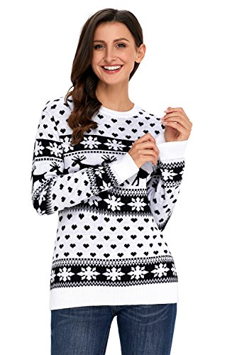 Black Feather Sparkle Broom (BYY Black Reindeer and Snowflake Knit Christmas Sweater(Black,XL))