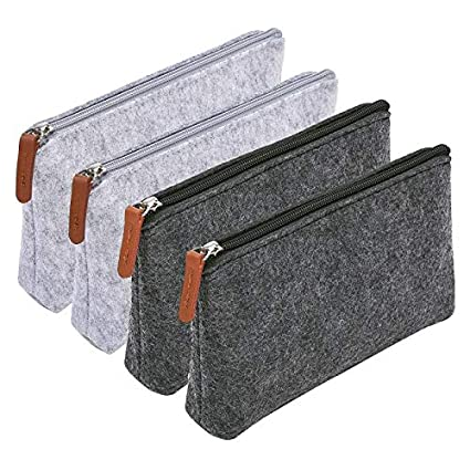 f06967939542 Amazon.com : Morepack 4 Pack Pencil Case Pencil Pouch, Pencil Bag ...