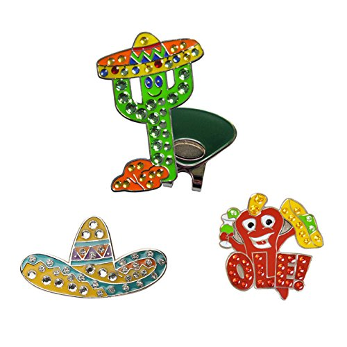 (Navika Fiesta Combo Swarovski Crystal Ball Markers with ONE Hat Clip)
