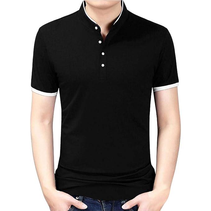 Yesmile ⭐ Sweatshirts Chaqueta Casual de Algodón para Hombre Sudaderas con Cremallera sin Capucha Hombre y
