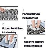 Shoe Soles disinfecting Floor Mat, Household
