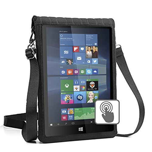 USA Gear 12 Inch Tablet Case Cover Holder with Capacitive Screen Use & Shoulder Carry Strap - Sleeve Fits Samsung Galaxy TabPro S 12