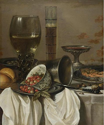 The Perfect effect Canvas of oil painting 'Pieter Claesz- Still Life with Drinking Vessels, 1649' ,size: 24x29 inch / 61x73 cm ,this High Definition Art Decorative Prints on Canvas is fit for Gym decoration and Home gallery art and Gifts ()