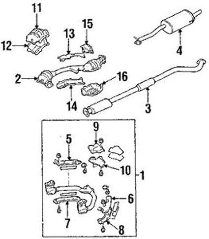 Amazon Com Subaru 44139sa010 Catalytic Converter Automotive