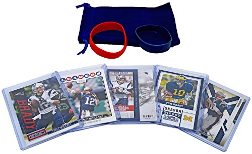 Tom Brady Football Cards Assorted (5) Bundle - New England Patriots Trading Cards