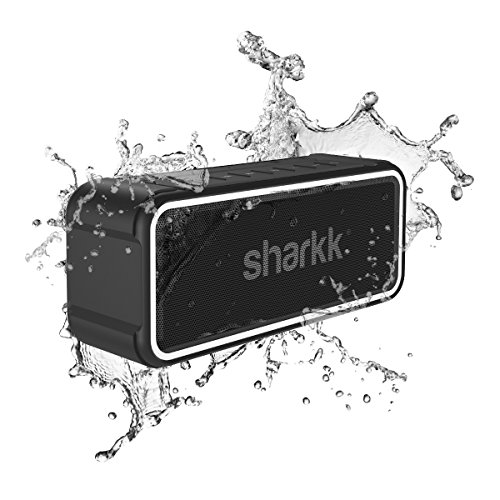 (SHARKK MAKO Waterproof Speaker 20 Watt Wireless Bluetooth Speaker Maxbass Technology Portable Speaker 4400mAh Battery Power Bank)