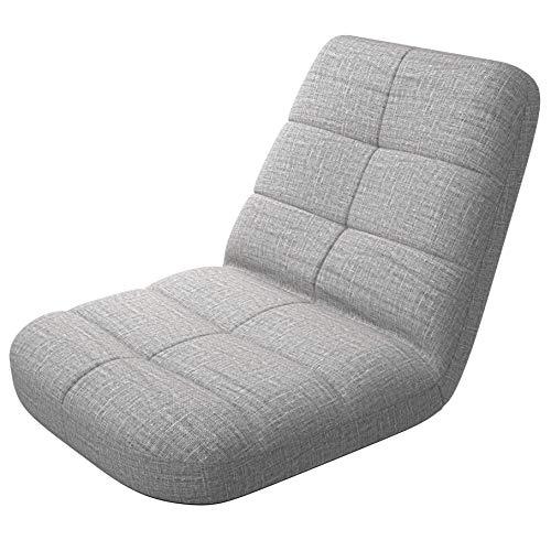 bonVIVO Easy Lounge, Silla Plegable de Suelo Acolchada Regulable con Respaldo, Cojin con Respaldo para el Hogar y la Oficina, Sillon Relax para Meditacion o Gaming, Disponible en Azul y Gris