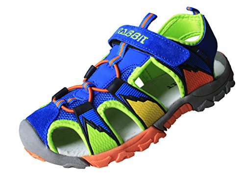Price comparison product image FhiFA Rabbit Boys' & Girls' Outdoor Sport Closed-Toe Adventure Sandals US Size 4.5 Sky Blue (Toddler/Little Kid/Big Kid)