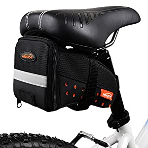 Ibera Bicycle Strap On Reflective SeatPak, Medium