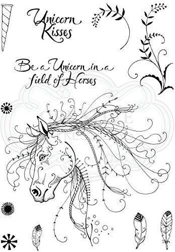 - Pink Ink Designs A5 Clear Stamp Set Unicorn