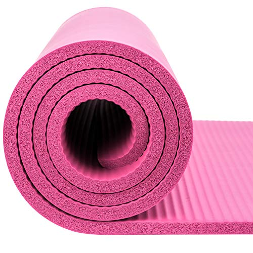 dbf93d1524359 REEHUT 1/2-Inch Extra Thick High Density NBR Exercise Yoga Mat for ...