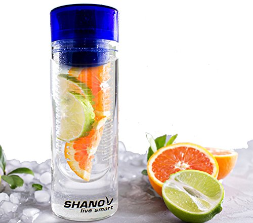 Fruit Infused Water Bottle - Better Health with Fruit and Water – Our Top Rated Cool Water Bottles - Great Birthday Gifts for Her - Infusion Water Bottle Enhances Fruit Water Flavor - (Blue)