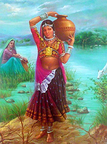 Village Belle Indian Poster/ Art of India: Reprint on Paper