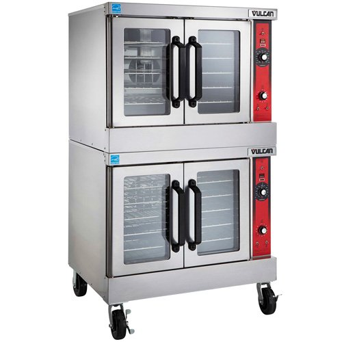 Vulcan VC55E Electric Convection Oven, Double Stack, 240V with Casters