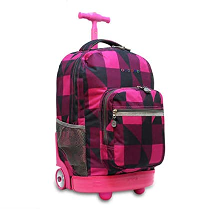 2a8b1cfd1e50 Amazon.com: HCC& Multifunction Waterproof Wheeled Rolling Luggage ...