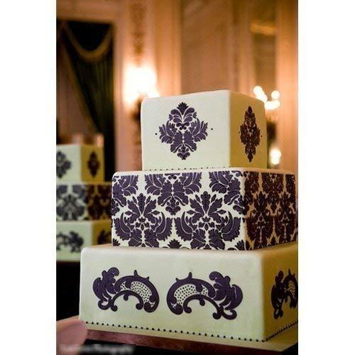 HULISEN 7Pcs Cake Decorating Stencil Mold Wedding Cake Stencil, Cake Mould by HULISEN (Image #6)