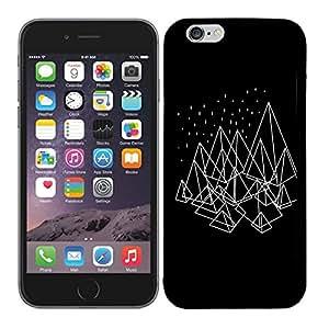 Funda carcasa TPU (Gel) para Apple iPhone 6 6S diseño pirámides fondo negro borde negro